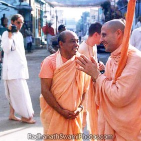 Radhanath Swami And Bhakti Swaroop Swami 283x283 Radhanath Swami With Other Devotees
