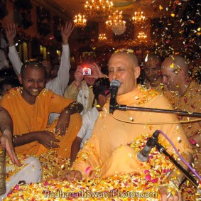 Radhanath Swami Celebrating Festival of Flowers 283x283 Radhanath Swami As a Music Lover