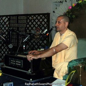Radhanath Swami Playing Harmonium 283x283 Radhanath Swami As a Music Lover