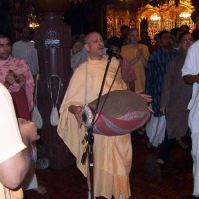 Radhanath Swami Playing Mridanga 3 283x283 Radhanath Swami As a Music Lover