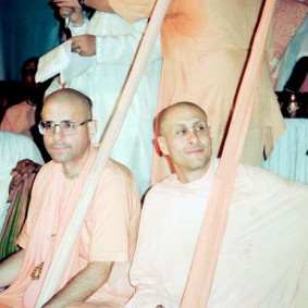 Radhanath Swami with Giriraj Swami 283x283 Radhanath Swami With Other Devotees