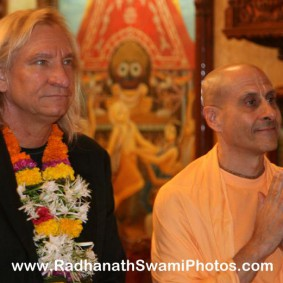 Radhanath Swami with Joe Walsh1 283x283 Radhanath Swami With Joe Walsh