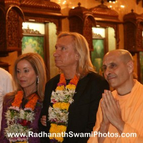 Radhanath Swami with Walsh 283x283 Radhanath Swami With Joe Walsh
