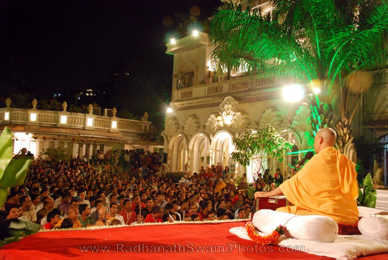 Lecture by Radhanath Swami at Birla House