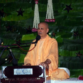 Radhanath Swami Singing at Birla House