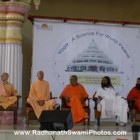 Radhanath Swami at Yoga Conference Bengaluru 283x283 Radhanath Swami At International Yoga Conference