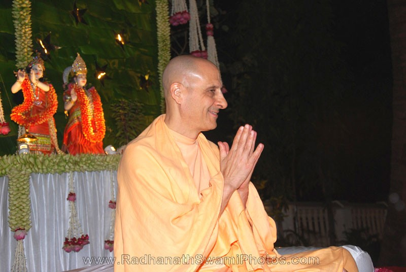Radhanath Swami at Birla House