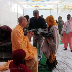 Radhanath Swami at Barsana Camp 283x283 Radhanath Swami At Barsana Camp   2012