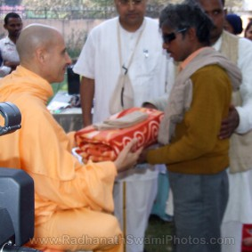 Radhanath Swami at Barsana Eye Camp 283x283 Radhanath Swami At Barsana Camp   2012