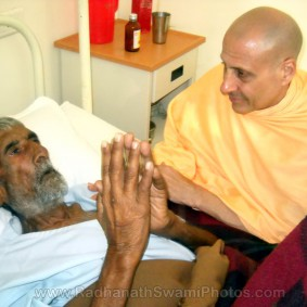 Radhanath Swami with Hospice1 283x283 Radhanath Swami At Barsana Camp   2012