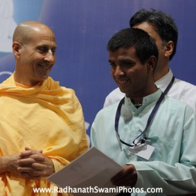 IMG 0133 new 283x283 Radhanath Swami At Gita Champions League Event