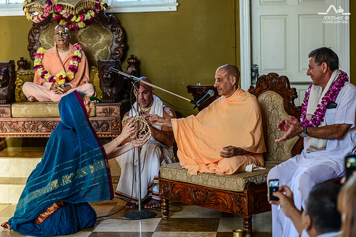 Initiation Ceremony by HH Radhanath Swami