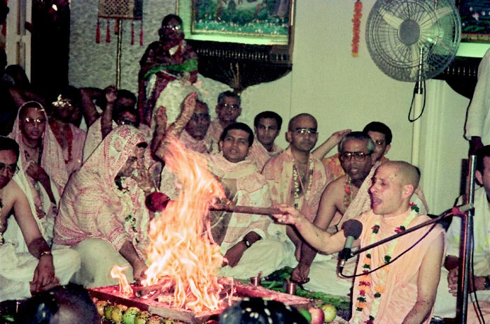Radhanath Swami - Initiation Ceremony