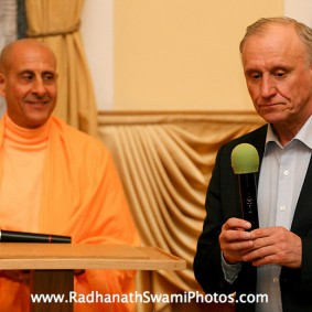 Radhanath Swami in Central Strategy 283x283 Radhanath Swami In Moscow