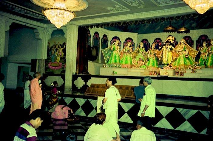 Radhanath Swami in Mayapur Temple