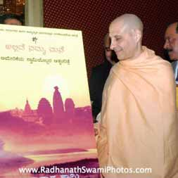 Radhanath-Swami during Journey Home Launch
