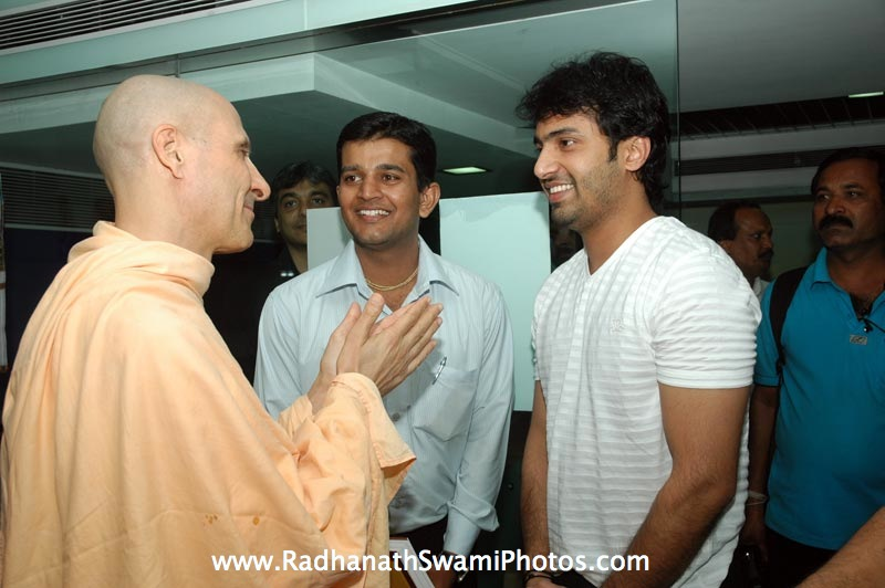 Radhanath Swami with Celebrity