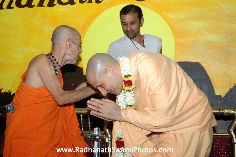 Pejavar Swami and Radhanath Swami
