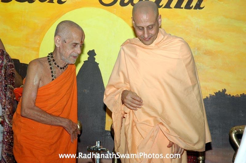 Radhanath Swami with Pejavar Swami