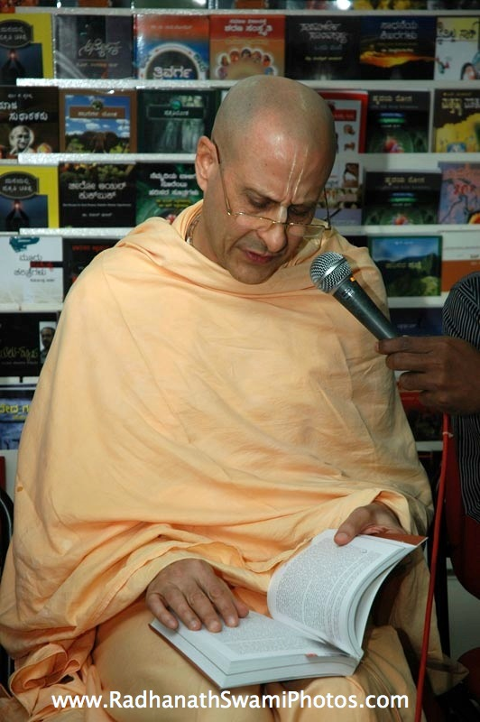 Talk by HH Radhanath Swami at Swapna Book Store