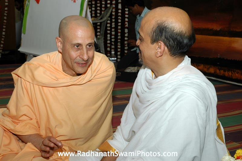 Radhanath Swami with devotee