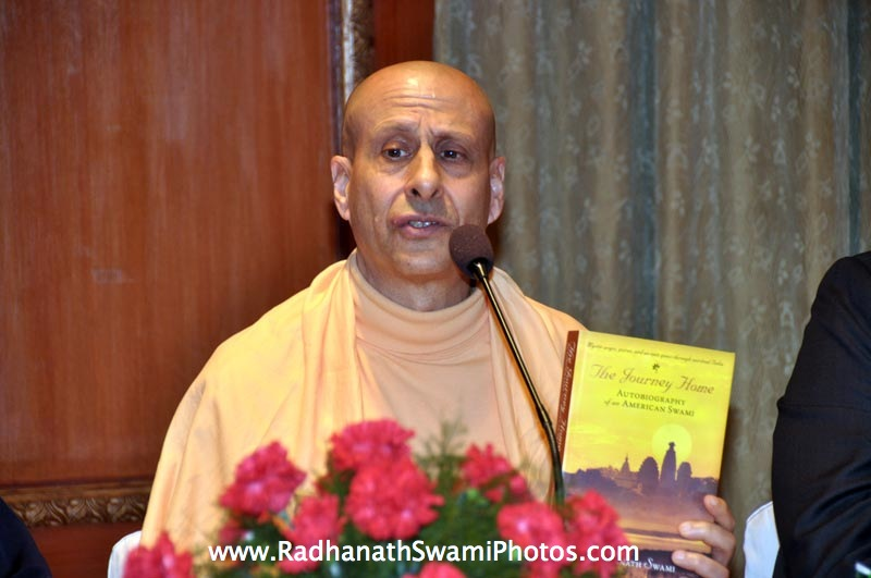 Radhanath Swami promoting his Book The Journey Home
