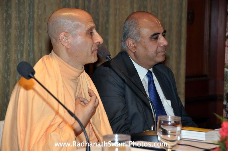 Hrishikesh Mafatlal with HH Radhanath Swami