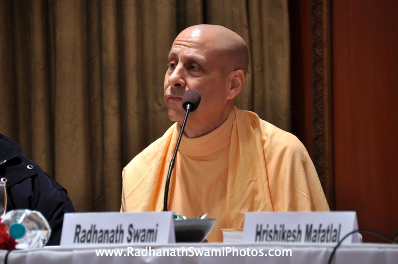 Talk by HH Radhanath Swami during Bangalore Book Launch