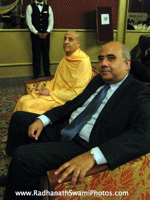 Hrishikesh Mafatlal and HH Radhanath Swami