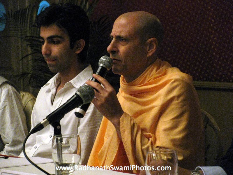 Radhanath Swami with Pankaj Advani