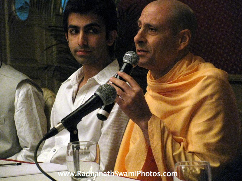 Radhanath Swami in Bangalore Book launch