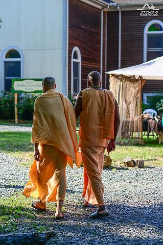 HH Radhanath Swami with Devamrita Swami