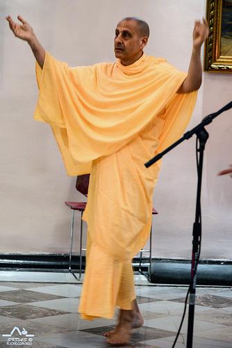 Radhanath Swami in New Dwarka, USA