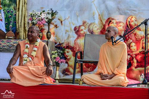 HH Devamrita Swami and Radhanath Swami