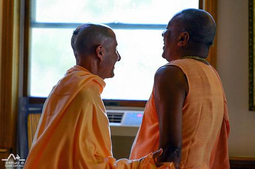 HH Radhanath Swami and HH Devamrita Swami
