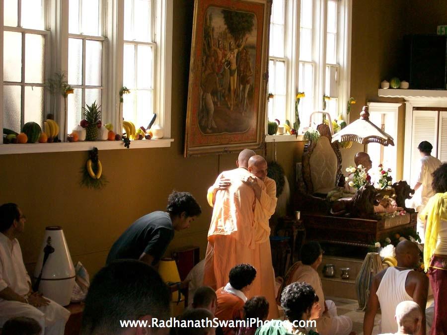 Radhanath Swami at Laguna Beach, US