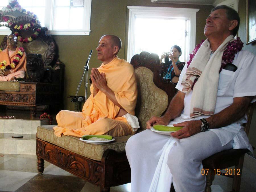 Talk by Radhanath Swami at Laguna Beach Temple