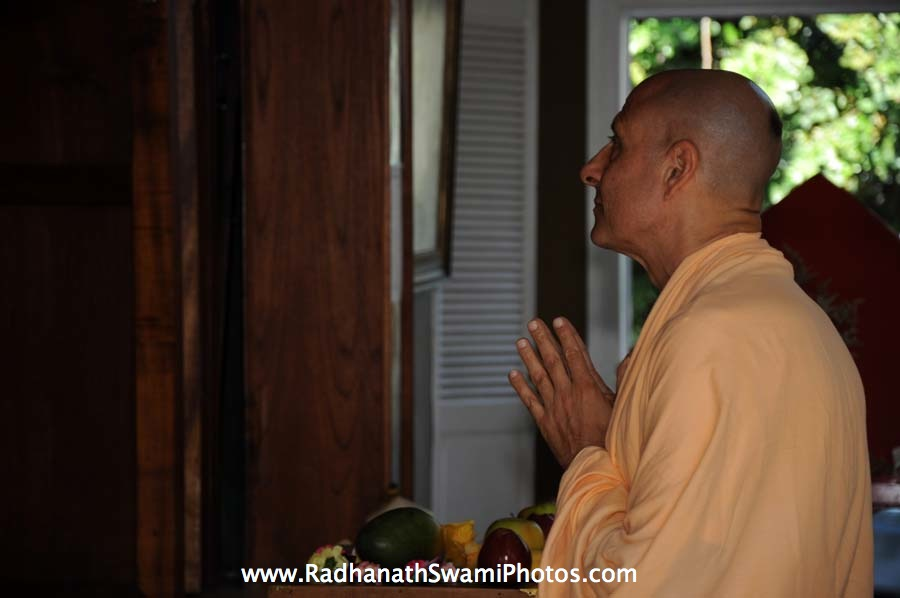Radhanath Swami Praying to Lord