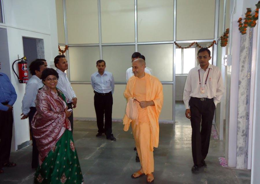 Radhanath Swami at PV Doshi Hospital, Mira Road