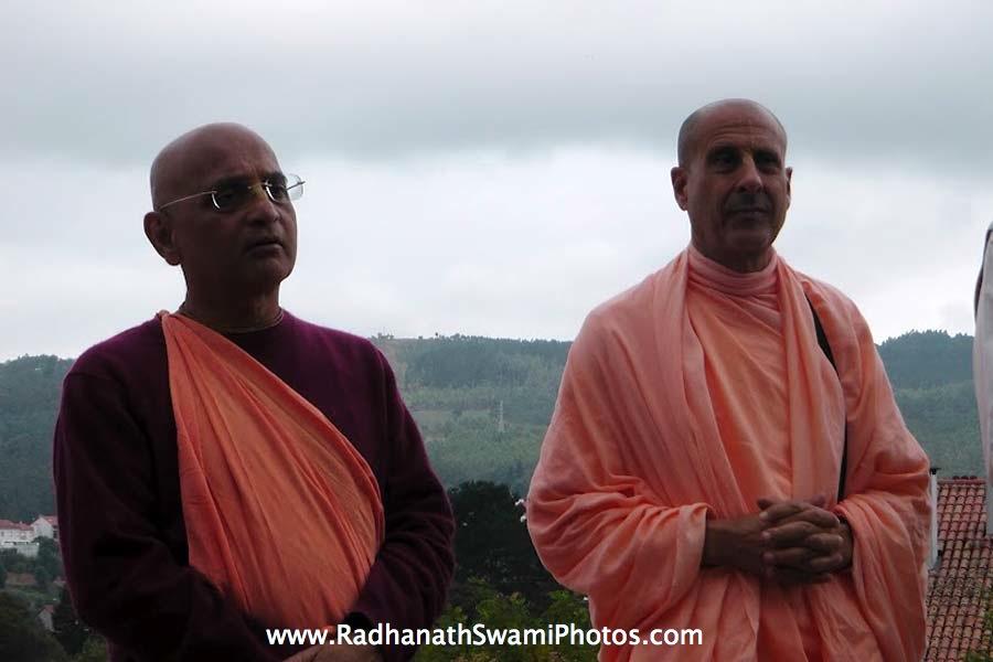 Radhanath Swami with Bhakti Charu Swami