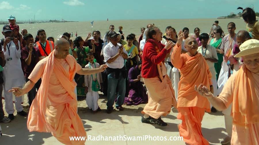 Hari Naam Sankirtan during Spiritual Retreat