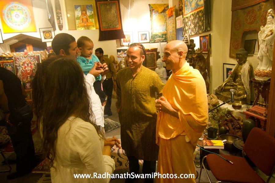 Radhanath Swami meeting Devotees