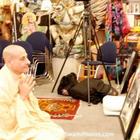 Radhanath Swami at a Book Store