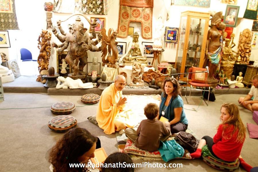 Radhanath Swami at Open Secret Book Store