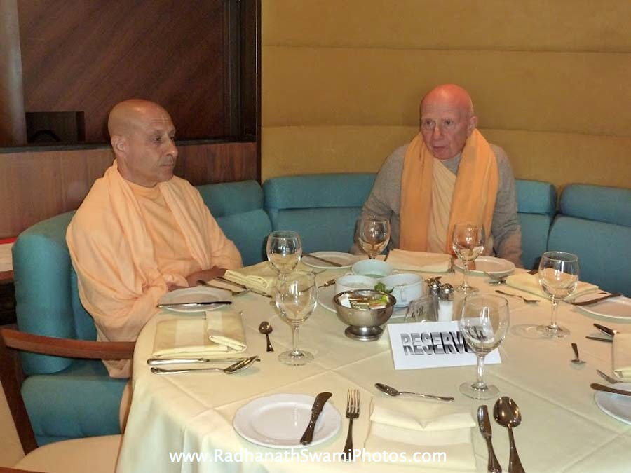 Radhanath Swami with Chandramouli Swami