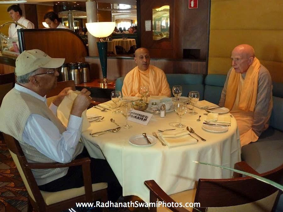 Srinathji Prabhu, Radhanath Swami and Chandramouli Swami