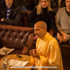 Radhanath Swami at Cambridge Union Society