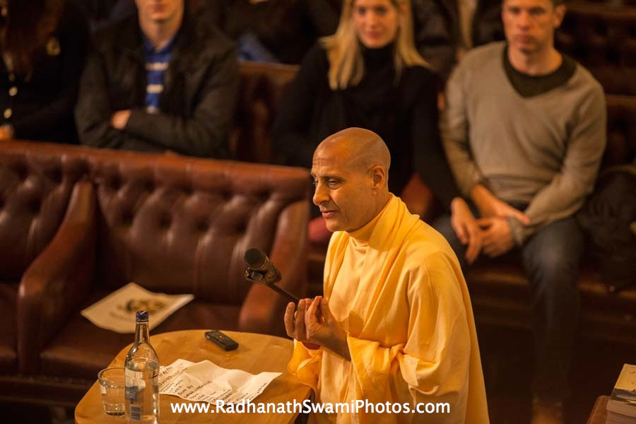 Talk by HH Radhanath Swami at Cambridge Union Society