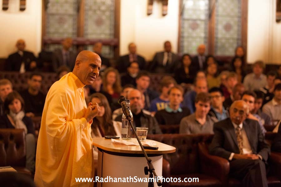 Talk by Radhanath Swami at Cambridge Union Society