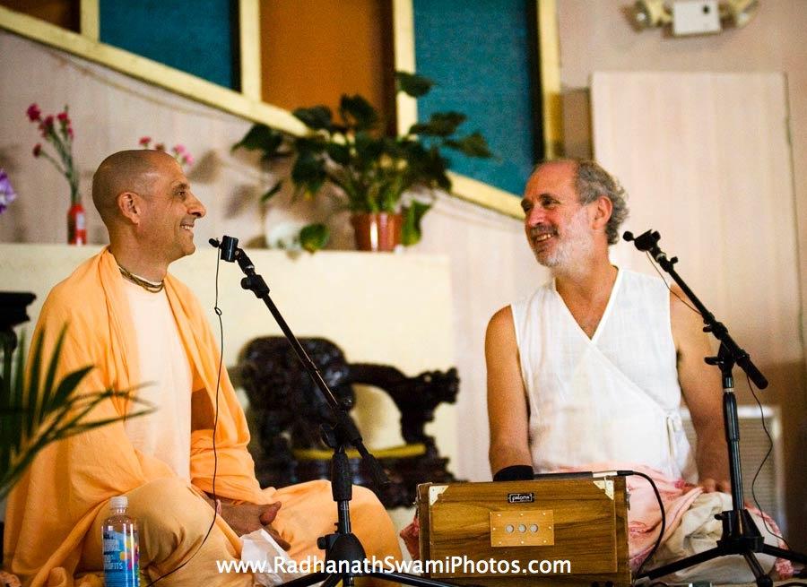 Radhanath Swami with Shyamdas